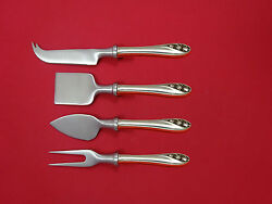 Lily Of The Valley By Gorham Sterling Cheese Serving Set 4 Piece Hhws Custom