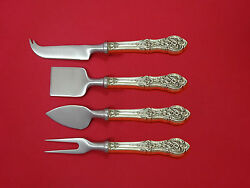 Springtime By International Sterling Silver Cheese Serving Set 4pc Hh Ws Custom