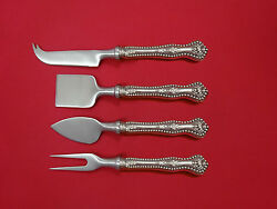 Charles Ii By Dominick And Haff Sterling Silver Cheese Serving Set 4pc Custom