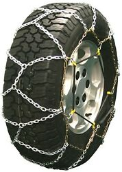 7.50-16 7.50r16 Diamond Back Tire Chains 5.5mm Link Bungee Adjuster Lt Truck Suv