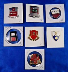 29th Field Artillery 577th Engineer Bat. Military Police 1st Army Pin Lot Of 7