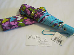 Vera Bradley FLUTTERBY Umbrella LARGE for RAIN BEACH Purse TOTE Backpack bag NWT