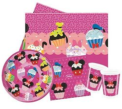 Minnie Mouse D-lish Party Pack {tablecover/cups/plates/napkins} Birthday