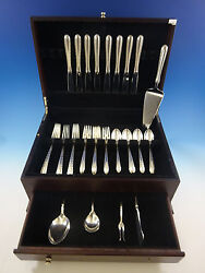 Silver Flutes By Towle Sterling Silver Flatware Set For 8 Service 37 Pieces