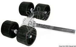 Osculati Boat Trailer Side Swing Rollers X4 D=120 Mm Straight 40 Mm Tube Size