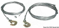 Osculati Boat Trailer Steel Winch Cable 5 Mm Diam With Shackle 6 M