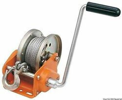 Osculati Boat Trailer Winch W/ Automatic Lock Max 1135kg + 10m Cable + Snap Hook