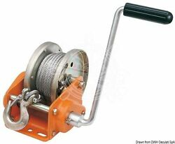 Osculati Boat Trailer Winch W/ Automatic Lock Max 900kg + 10m Cable + Snap Hook