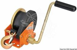 Osculati Boat Trailer Winch With Automatic Lock Max 680kg + 6m Tape + Snap Hook