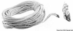 Osculati Marine Boat White Rope With Chain Link For Windlass Chain D=14mm L= 35m