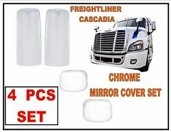 Freightliner Cascadia Chrome Mirror Covers 4 Pcs Set Of Chrome Mirror Covers