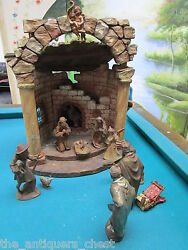 Karl Kuolt Nativity Set, Manger And 11 Figurines Complement Of Main Posting
