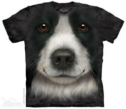 New The Mountain Border Collie Face T Shirt