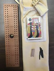 Custom Made Wood Cribbage Board With Gold Nugget 9 Of 12