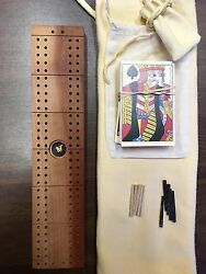 Custom Made Wood Cribbage Board With Gold Nugget 5 Of 12
