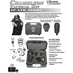 Earphone Connection CHAMELEON Tactical Kit for Harris  Macom LPE Prism Radios