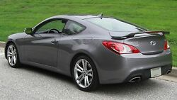 New Unpainted For 2010-2016 Hyundai Genesis Coupe Rear Spoiler W/led Light Wing