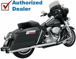 Bassani Chrome Bagger Stepped True Duals With Power Curve Exhaust Harley Touring