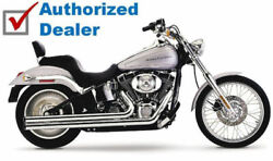 Cobra Chrome Speedster Longs Exhaust System Pipes 1986-2006 Harley Softail 6950t