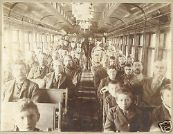 Antique Victorian Reading Railway Rr Pa Trolley Car Painting Streetcar Photo