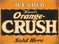 Ice Cold Orange Crush Bar Kitchen Metal Tin Sign Poster Wall Plaque