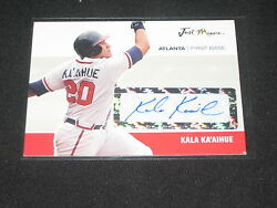 Kala Kaand039aihue Rookie Autographed Just Minors Certified Authentic Baseball Card
