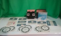 Vintage Sawyers Black Viewmaster / Instructions And 16 Reels 2 Fairytale Booklets