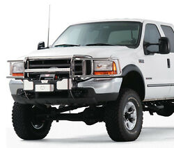 Warn Transformer Stainless Grill And Brush Guard Combo. Ford Super Duty 2008-2010