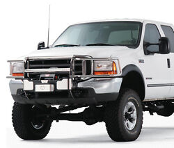 Warn Transformer Black Grill And Brush Guard Combo. Ford Super Duty 2008-2010