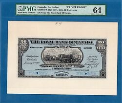 Canada, Barbados, 20 Dollars, Front Proof, 1920, Unc-pmg64