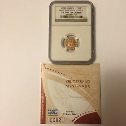 2009 S. African Krugerrand 1/10th Oz Gold Government On Wheels Pf70 Uc