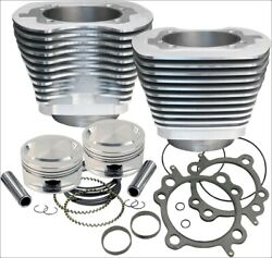 Sands Cycle 95 Ci Big Bore Cylinder Kit Silver 9.71 Compression 99-06 Harley
