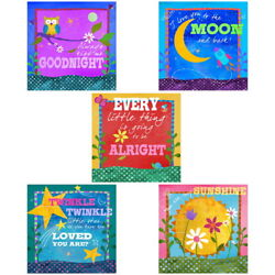 Lullaby Music Kids Bedtime Songs Wall Decal Set Vintage Style Home Decor Bundle
