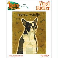 Boston Terrier Dog Pet Vinyl Sticker Pet Breed Car Laptop Decal