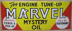 Old Marvel Mystery Oil Store Display Rack Tin Advertising Sign Gas Station Parts