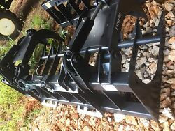 84 Inch Extreme Duty Root Grapple Skid Steer And Track Loader Attachment