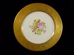 Beautiful Gilt And Hand Painted Floral Cabinet Plate - Style Of Hutschenreuther