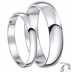 Platinum Wedding Bands His And Hers 3 And 5mm Heavy Weight D Shape Wedding Rings