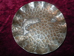 Pairpoint Silverplate Candy Nut Dish Old Vintage Bowl Art Deco Fish Nautical