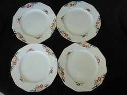 Vintage 4 Pc Set Of Dinner Plates 8, Myott Son And Co, Jeanette 2045