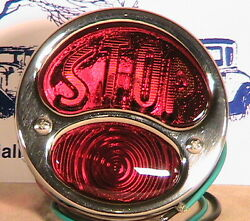 1928-1931 Model A Ford Ratrod Streetrod Motorcycle Lh Taillight W/stop Lens