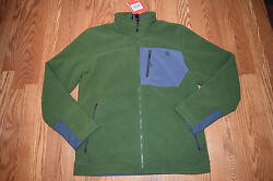 NWT MENS NORTH FACE Active Fit Outdoor Fleece Jacket Scallion Green Sz M Medium