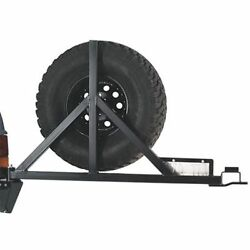 Warn 64337 Black Steel Rock Crawler Tire Carrier For Use With Pn 65508 Pn 65509
