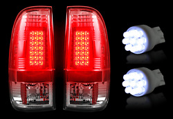 Recon Clear Lens LED Tail Lights & White LED Reverse Bulbs Kit for Ford F350 SD