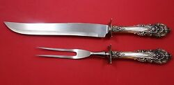 Sir Christopher By Wallace Sterling Silver Roast Carving Set 2pc Hhws 13 1/2