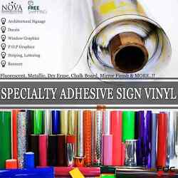 Specialty Adhesive Sign Vinyl 24 X 12 1 Foot Free Shipping