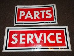 Nos 1960's 1970's Ford Dealership Parts And Service Door Decals Stickers New Pr
