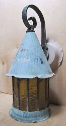 Antique Arts And Crafts Copper Light Fixture Decorative Arts Old Wall Mount Lamp
