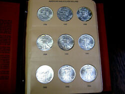 36 Coin Complete Set Silver American Eagle S In Dansco United States Dollars Unc