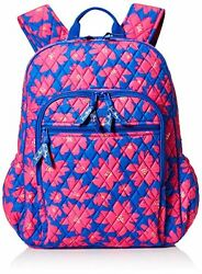 Vera Bradley Womens Campus Tech Backpack Art Poppies Travel Bag Luggage Suitcase